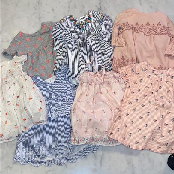 7 Baby Gap Summer Dresses, Sz 6-12 Months